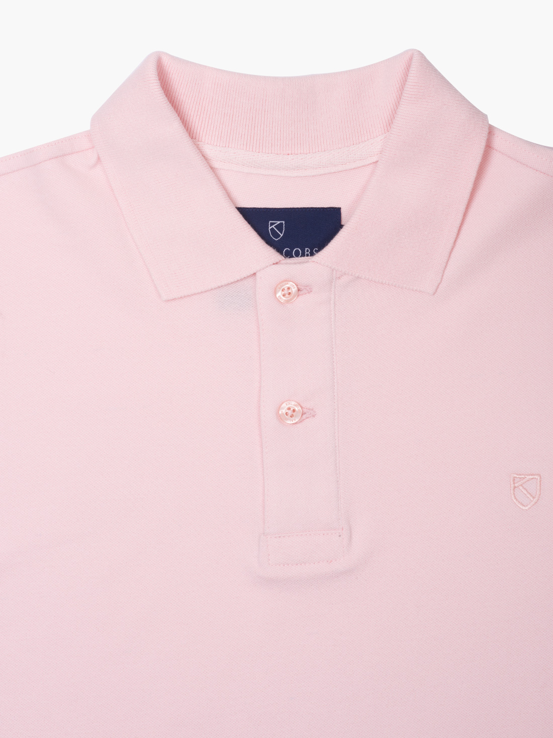 Kal Jacobs Classic Fit Pale Pink Polo Shirt