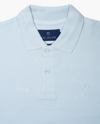 Classic Fit Mist Blue Polo T-Shirt