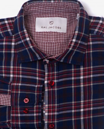 Tailored Fit Plaid & Gingham Cotton Shirt