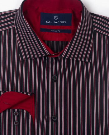 Tailored Fit College Stripe Cotton Shirt