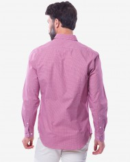 Tailored Fit Red & White Cotton Gingham Shirt 2