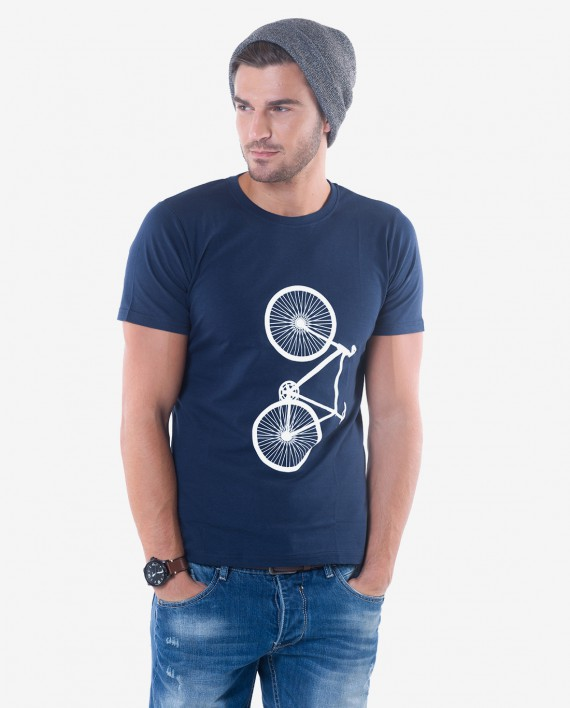 Trim Fit Navy Blue Cotton Jersey T-shirt